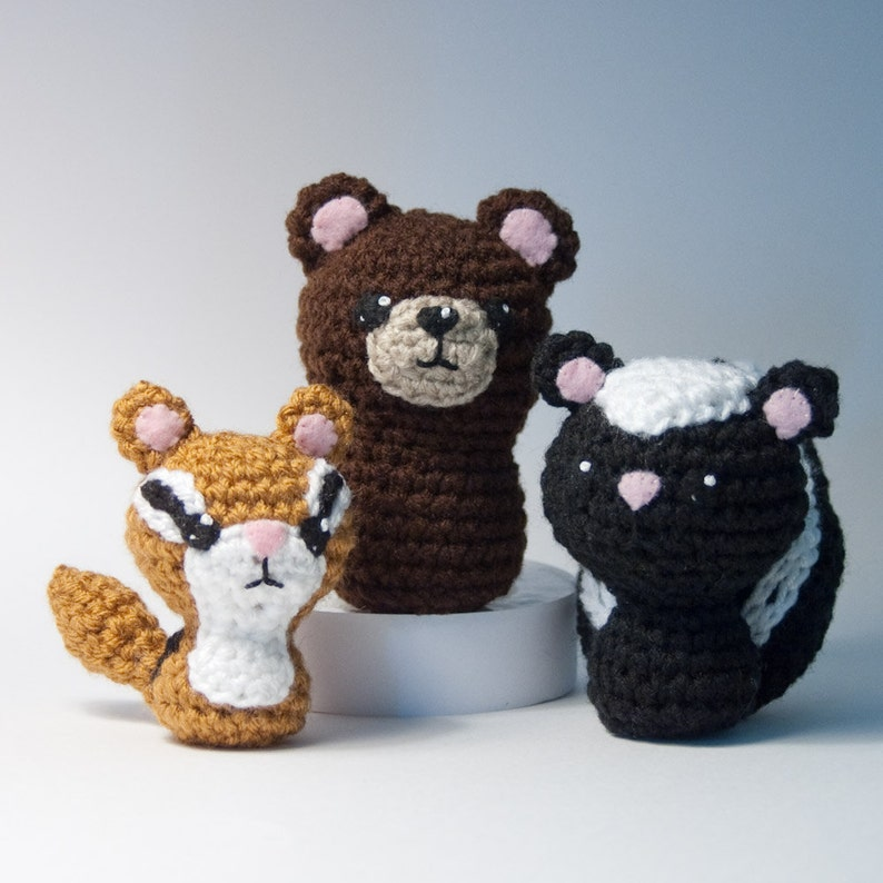 Backyard Critters 2 Crochet Amigurumi Pattern with Skunk image 0