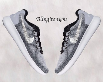 Swarovski Nike Women s Free RN 2017 - Hand Customized with Swarovski  Crystals - Crystallized Swoosh 1d4ad15e35