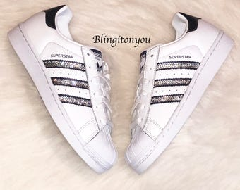 e5fadc51d29d Bling Adidas Superstar with Swarovski Crystals   Women s Originals  Superstar Casual Shoes