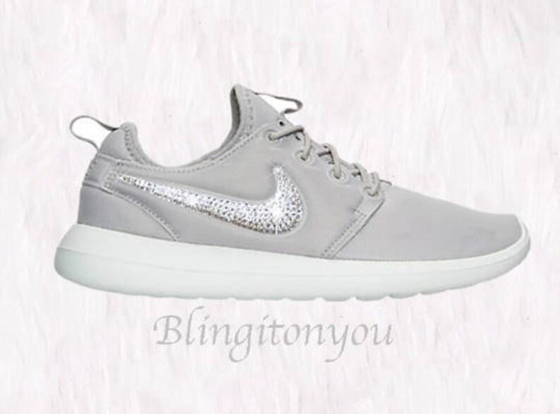 the latest bd5fb 99057 Swarovski Nike Roshe Two Shoes Customized Blinged with   Etsy
