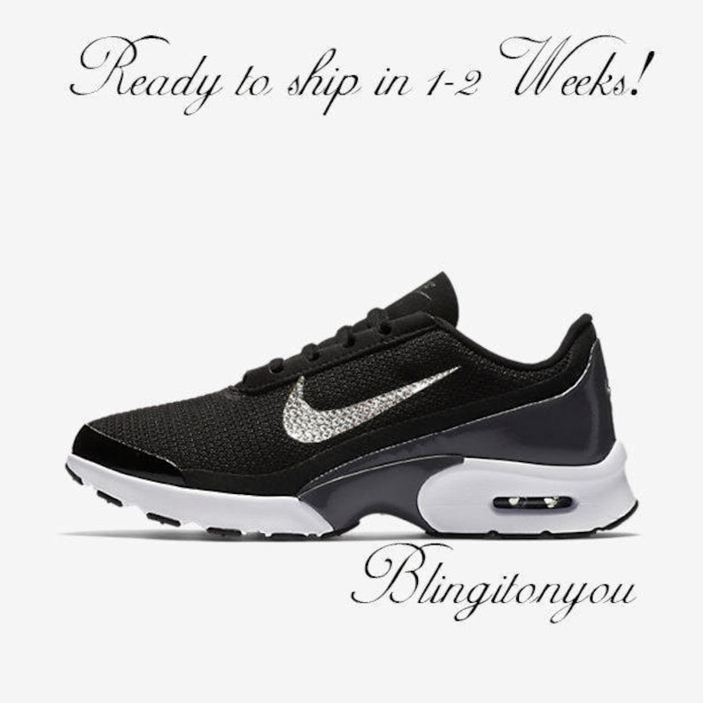 New Swarovski Nike Women s Air Max Jewel Black Shoes  38df1d4fb547