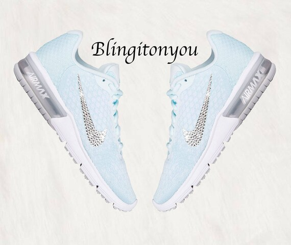 Swarovski Nike Air Max Sequent 2 Women s Shoes Glacier  ec4227702