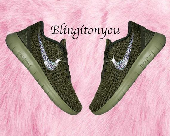 Bling Swarovski Nike Free RN Running Shoes   Sneakers Bling  a52c967dcead