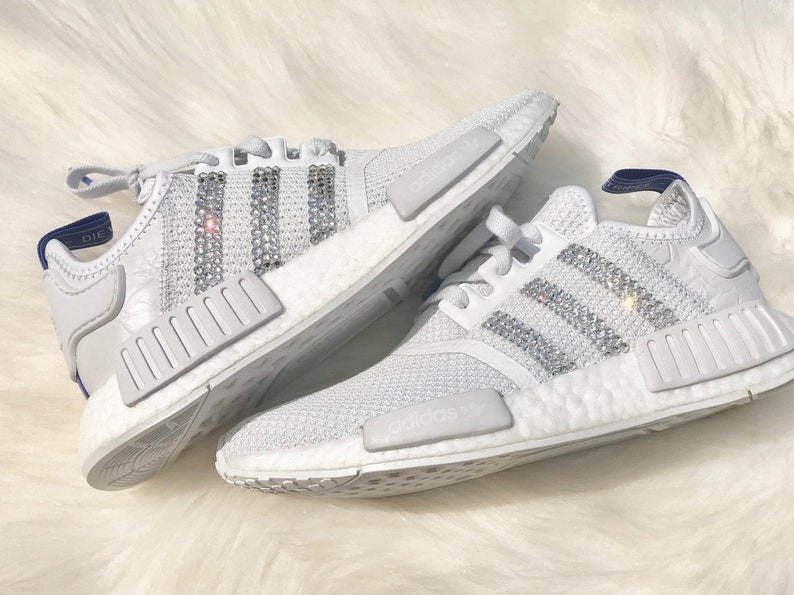 bf706cbb0fe90 Last Pair on SALE! Size 6.5 Swarovski Adidas Originals NMD R1 Women's Shoes  Crystal white/white/lilac