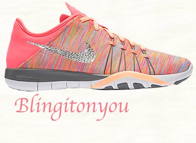 78c598b426310 Swarovski Nike Free TR 6 AMP Women s Shoes Custom Blinged
