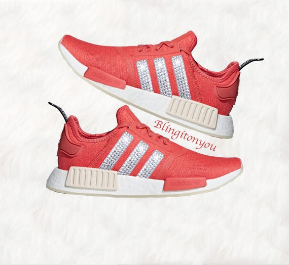online store 8597e 55435 Swarovski Women s Adidas NMD R1 Casual Shoes   Etsy