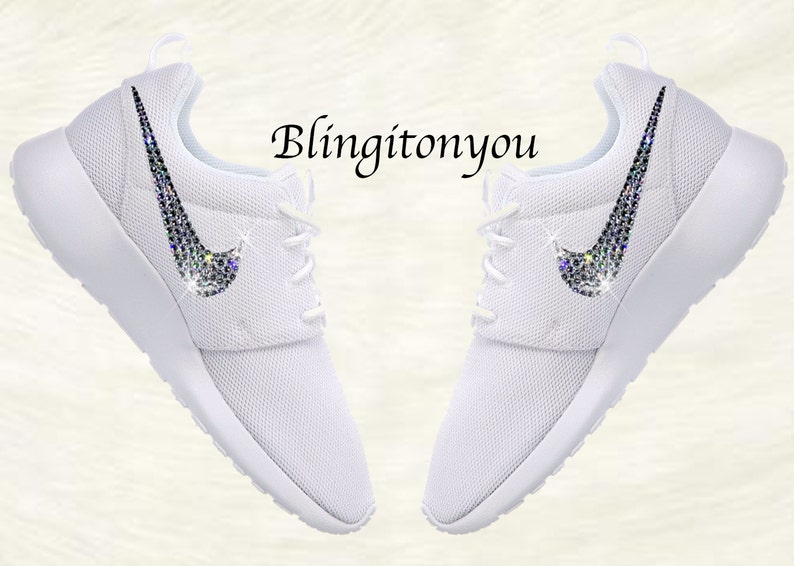 Swarovski Nike buty damskie Nike Roshe jeden biały   Pure  92b1886461c