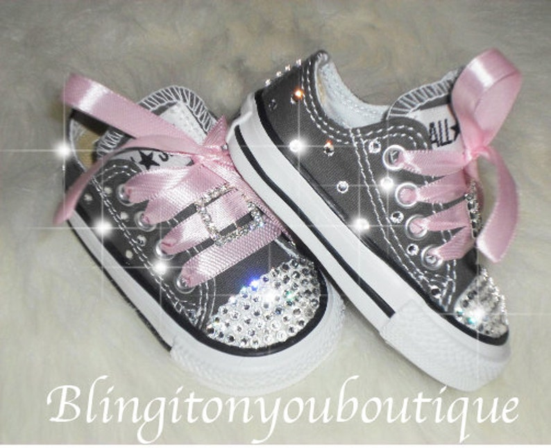 018acbe5e832 Sale Baby infant toddler Converse Chuck Taylors Swarovski