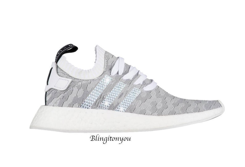 SWAROVSKI Adidas Primeknit NMD 2 Women s Shoes Custom  0445b1a17