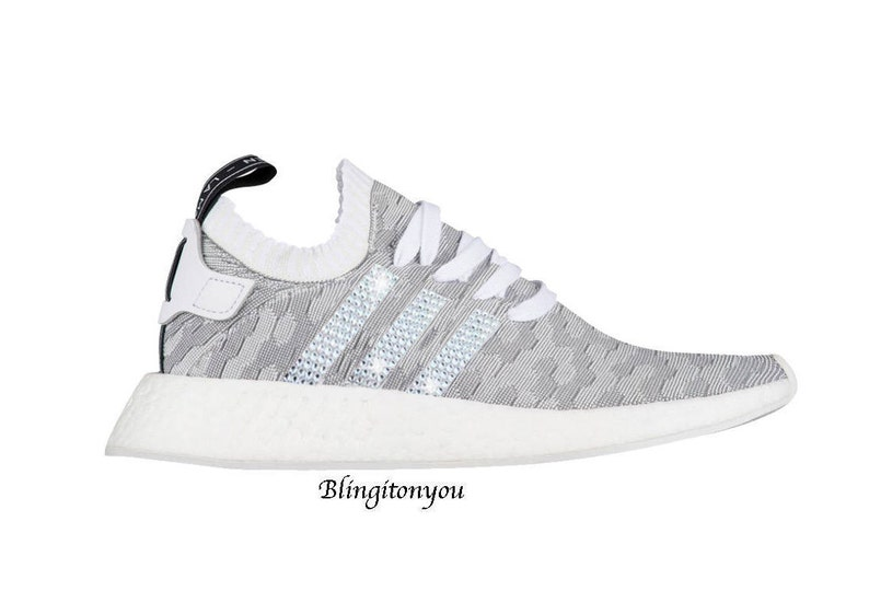 SWAROVSKI Adidas Primeknit NMD 2 Women s Shoes Custom  b5283f830330