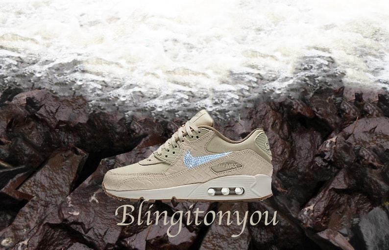 low priced 2f382 43f17 Vendita Nudo Swarovski Nike Air Max 90 Premium Scarpe Running   Etsy