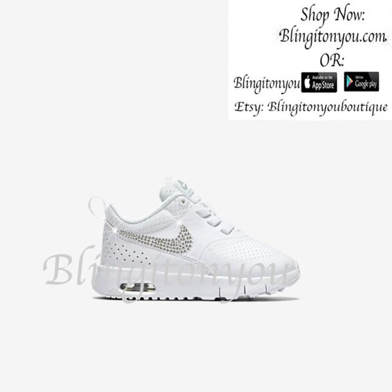 Neue Swarovski Nike Damen Air Max Juwel Schwarz Schuhe benutzerdefinierte aufgemotzt mit Swarovski Kristall Strass | Nike Bling Schuhe | Bling Nike