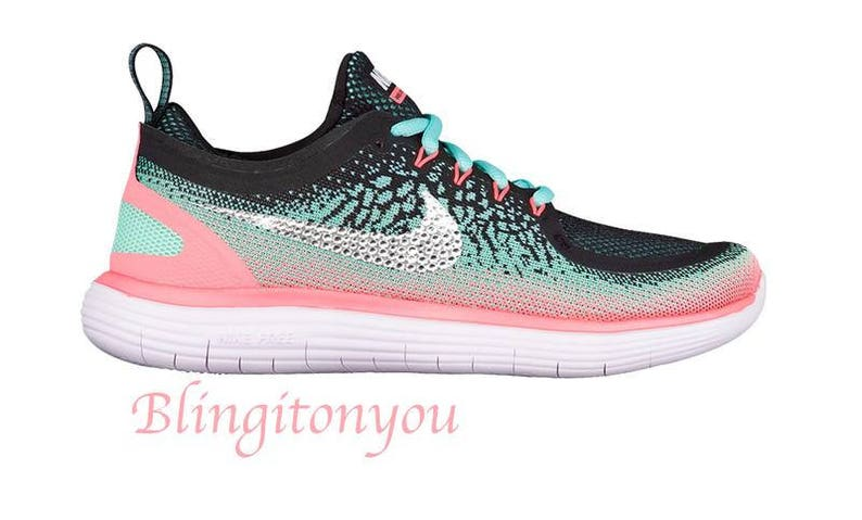 10b875b0ded3 Swarovski Nike Women s Free RN Distance 2 Shoes Custom