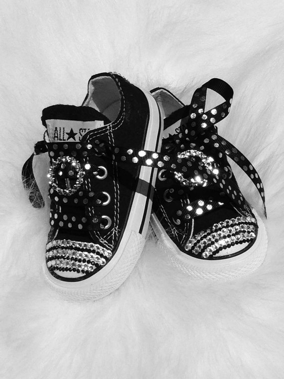 e7e03800906a Baby infant Converse 5 Swarovski Crystals Bling SHOES All Star