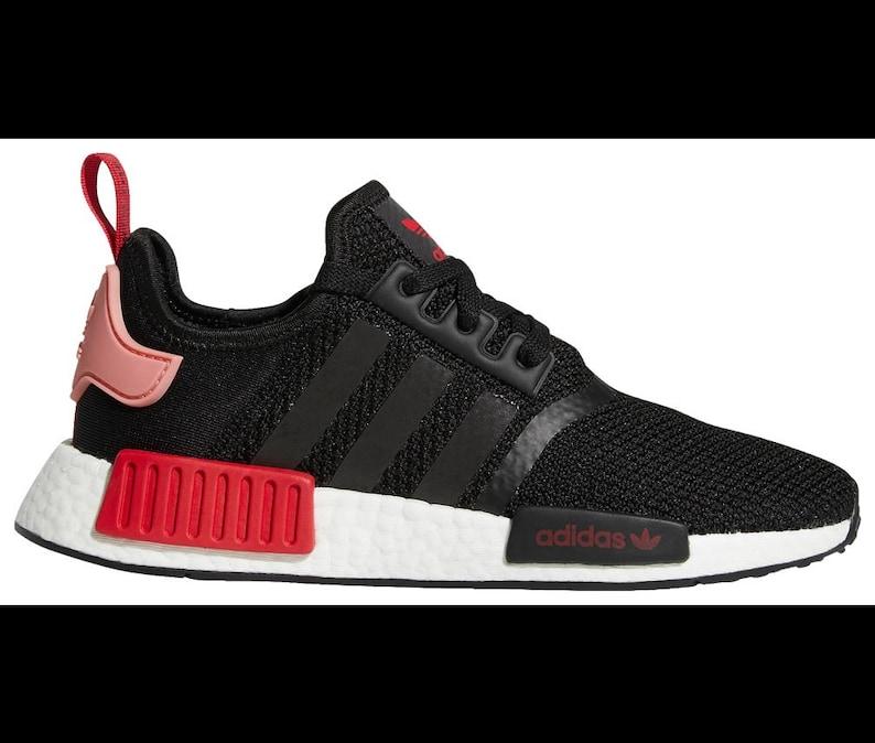 2a2137f1f631f Swarovski Blinged Women s Adidas Core black Rose red NMD