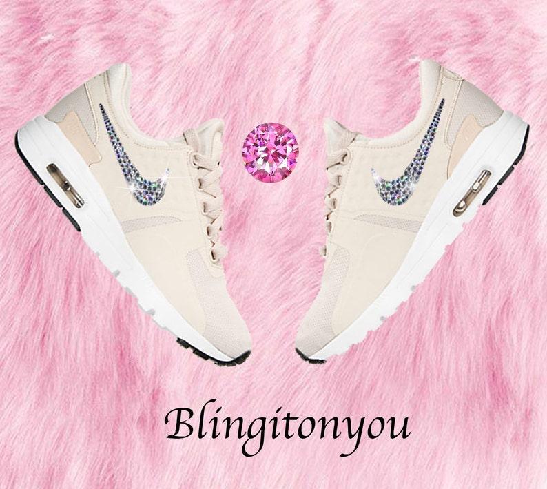 Swarovski Nike Shoes Bling Women s Nike Air Max Zero Shoes  36921b647e