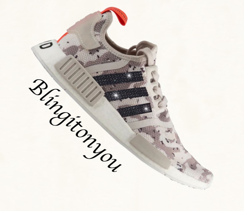 132cc2f48 Tan Camo Swarovski Adidas NMD Runner Casual Shoes