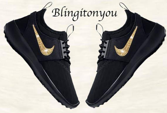 5b44d656949 New Swarovski Black Nike Women s Juvenate Shoes Custom