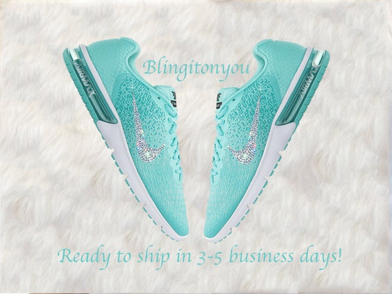 Swarovski Nike Air Max Sequent 2 Women s Shoes Green    bc45395efe