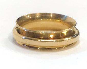Gold Spinner Ring Fidget Ring Gold Wedding Band Fidget Spinner Wedding Ring Gold Ring for Women Spinning Ring 14k Gold Band for Men