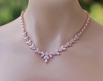 Bridal Necklace Rose Gold 055f607c8