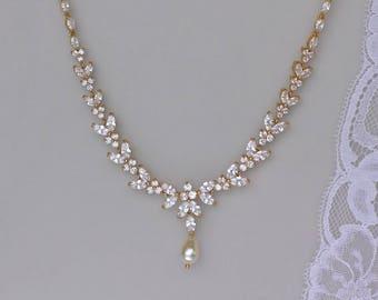 Gold bridal necklace  732fb0773d