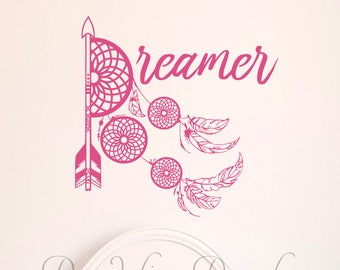 Nursery Décor – Dreamer – Dreamcatcher Wall Décor – Dreamcatcher Wall Decal - Nursery Dreamcatcher - Nursery Wall Decal