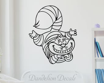 Cheshire Cat – Alice In wonderland Decal – Cheshire Cat Wall Decal – Cheshire Smile Decal - Wall Decal