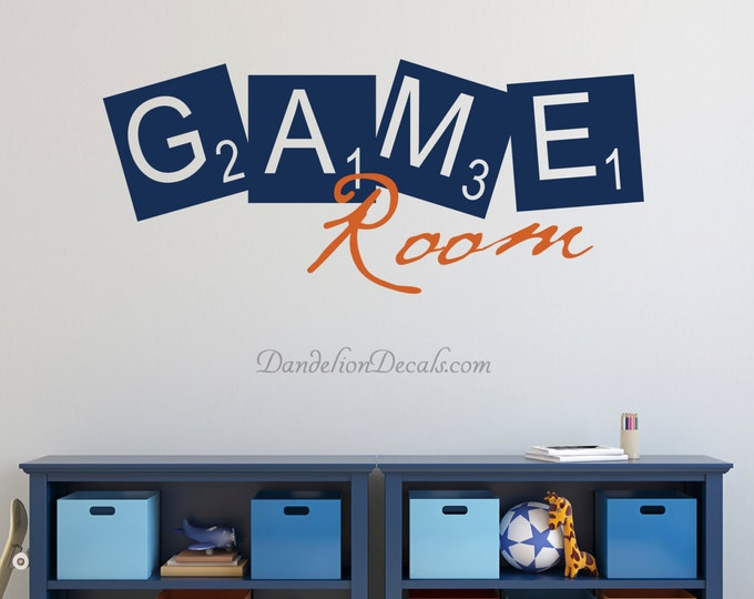Featured listing image: Game Room Wall Decal - Game Room Decor - Kids Playroom Wall Decal