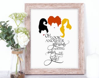 Hocus Pocus Quote - Sanderson Sisters Print - Wall Quote - INSTANT DOWNLOAD - 8.5x11 Printable