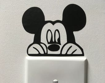Mickey and Minnie Light Switch Toppers - Set of 2 - Disney Light Switch Toppers - Stocking Stuffers