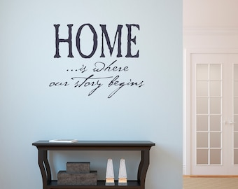 Vinyl Sticker - Wall Decal - Home Decor - Home Is Where Our Story Begins - Removable Wall Decal