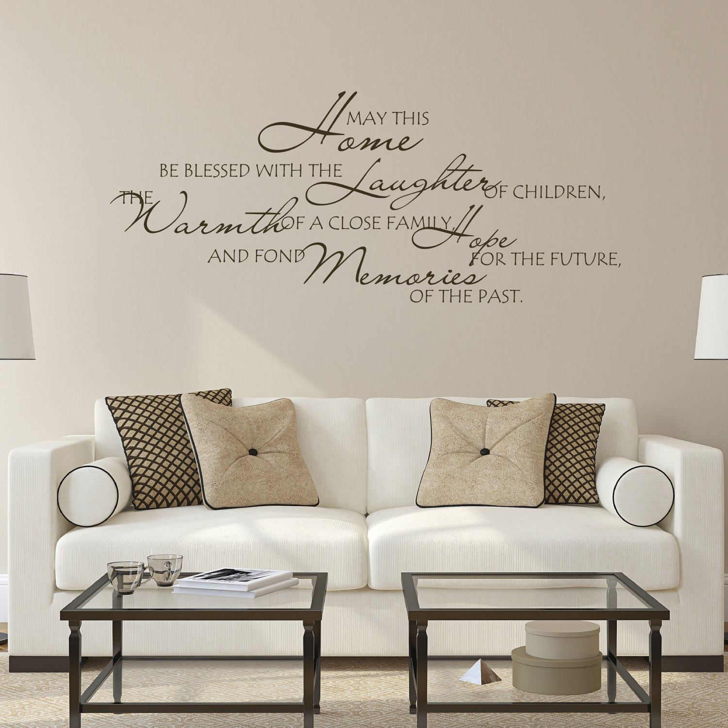 Family Room Wall Decal Family Quotes May This Home Be Blessed