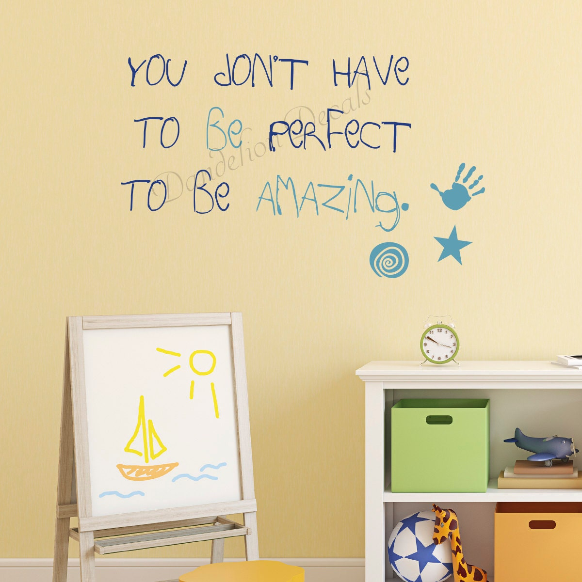 Art Room Wall Decal - Kids Quotes - Kids Room Decal - Inspirational ...