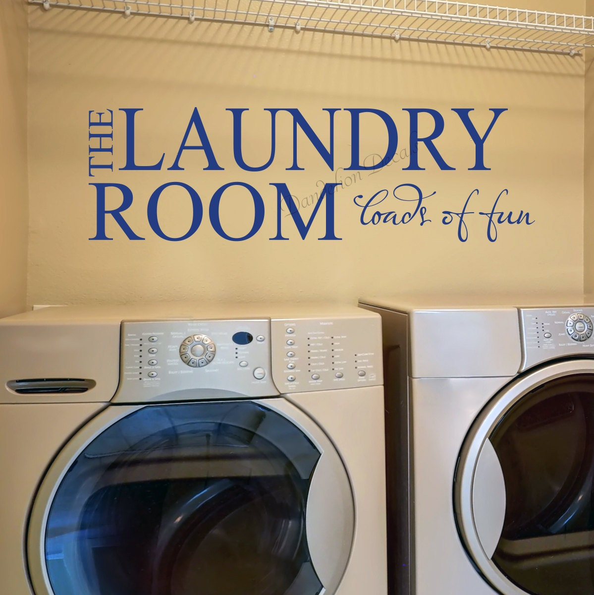 Laundry Room Removable Wall Sticker - Vinyl Lettering - The Laundry ...