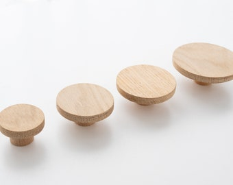 Round coat knob, oak wall knob, wooden wall knob, round wall knob, wall knob made of solid oak