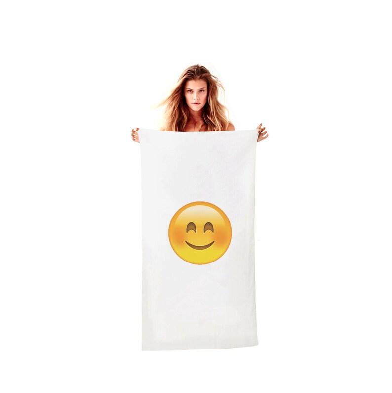 843560d48 Smiling Face Emoji Towel Emoticon Bath Beach Pool For Summer | Etsy