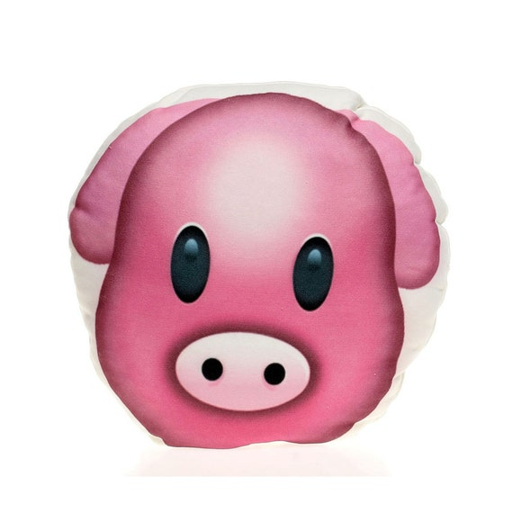 Pink Pig Face Pillow Funny Christmas Birthday Gift For Kids Decorative Bed Living Room Pillows