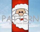 Santa Claus PATTERN for Stained Glass or Mosaic