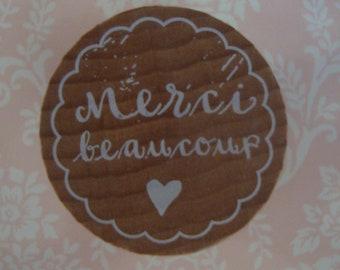 Royal Posthumus Woodies Merci Beaucoup Stamp