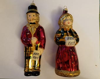 Vintage Lauscha Caroler Ornaments