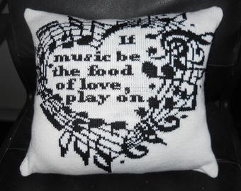 Music Quote Pillow
