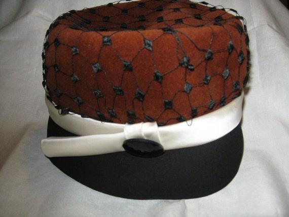 1950s Elsa Schiaparelli Designer Hat - Paris, Fra… - image 1