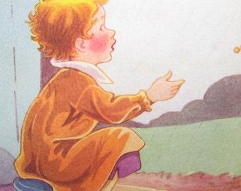 JOHNNY WANTS PLAY - Rain Rain Go Away - Nursery Rhymes Poster