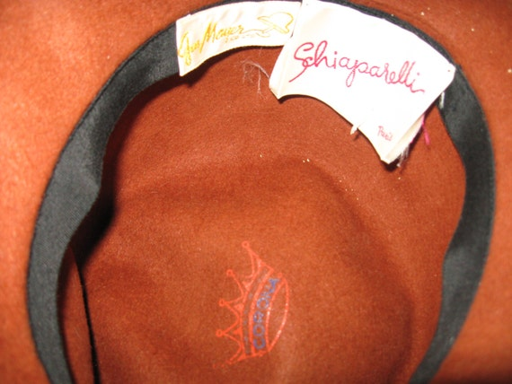 1950s Elsa Schiaparelli Designer Hat - Paris, Fra… - image 4