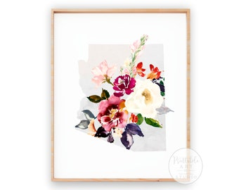 Arizona Gift | Art Print | Dorm Wall Decor | Printable Art | Office Decor | Flower Wall Decor
