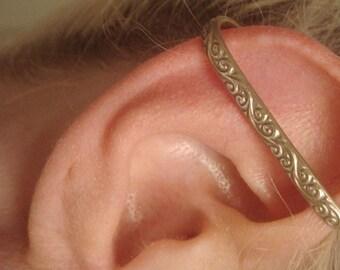 Ocean Waves Ear Cuff  -  Ear Bar - Non Pierce Ear Cuff - Ear Wrap - No Pierce Earring - Sterling Silver Ear Cuff - Boho Jewelry