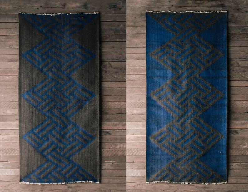 0d94846106 Crin de cheval RARE tapis cheveux ethnique Tribal gris / | Etsy