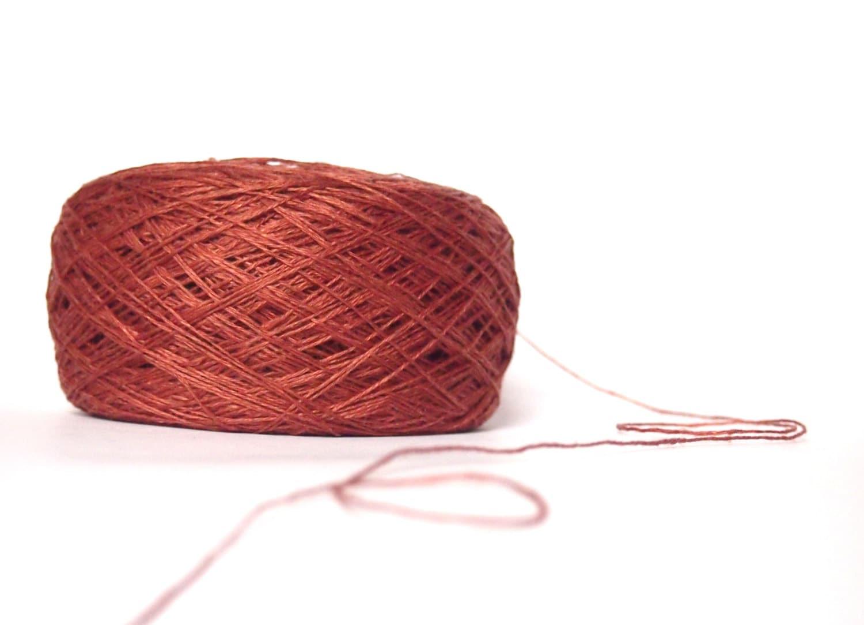 Dark Rust Color Linen Yarn 056 High Quality Linen Yarn For