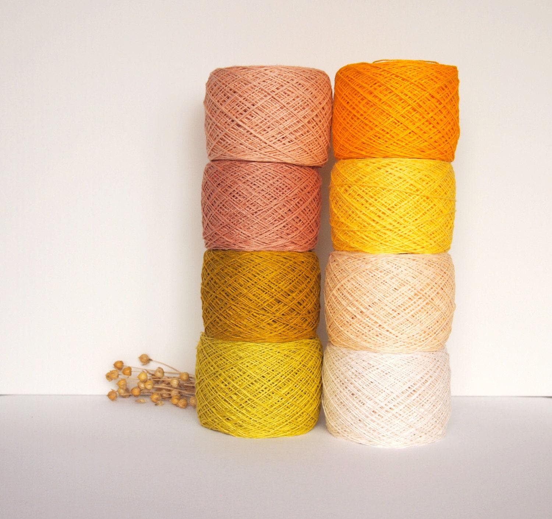 8 Balls Natural Linen Yarn, High Quality, Linen Yarn For Crochet, Knitting,  400 gr/ 14 oz